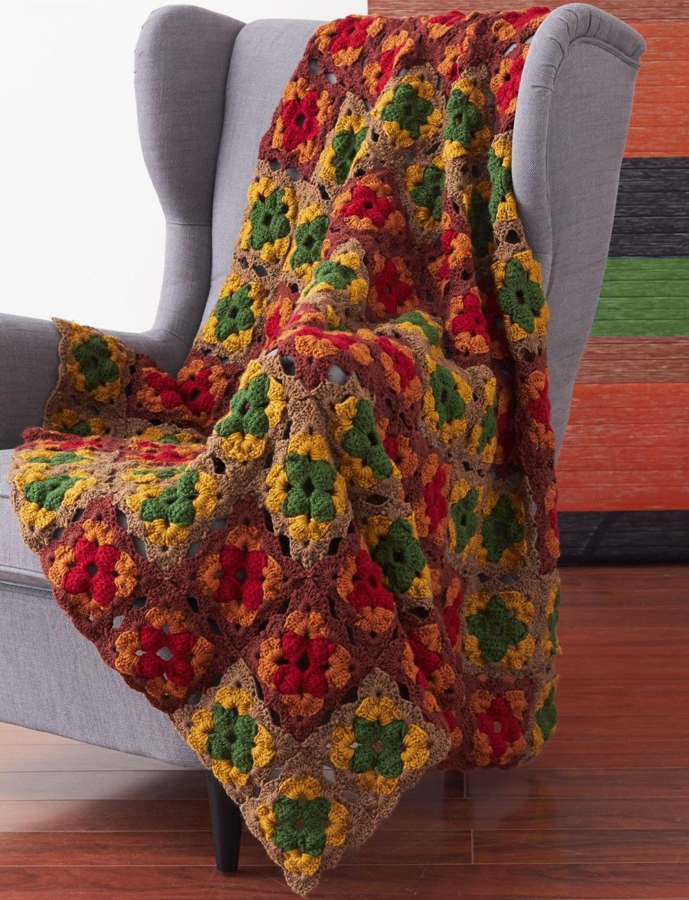 Autumn\'s Calling Crochet Afghan | SQUARE BLANKET | Pinterest | Manta ...