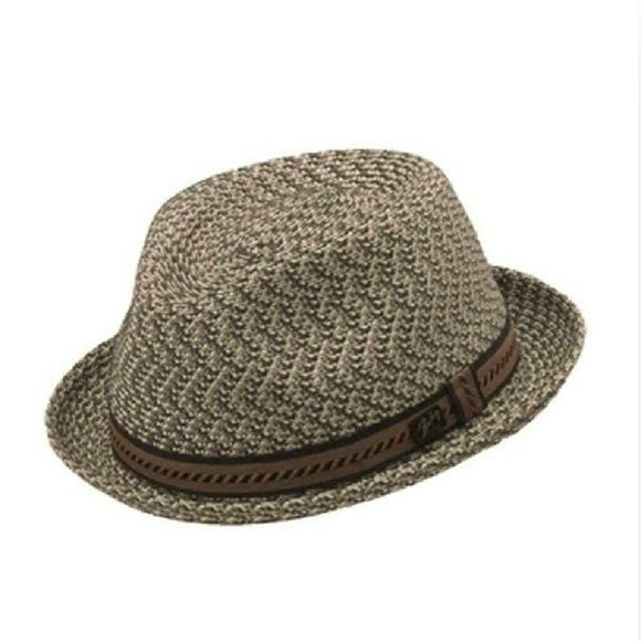Bailey Mannes Crushable Straw Fedora Men s Hat Made of light ... 36b10ac20396