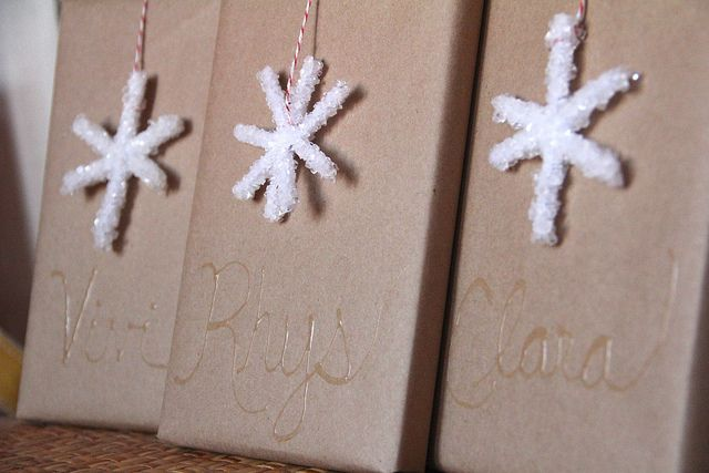 Borax Crystal Snowflakes | A Girl and a Boy