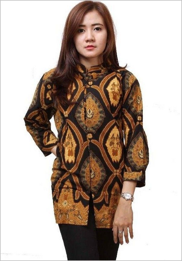 10 Model Baju Batik Wanita Lengan Panjang Terbaru Model Baju