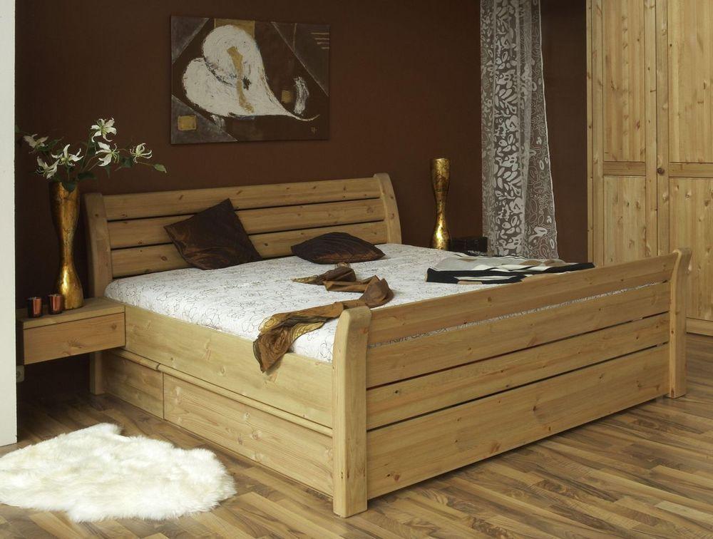 Funktionsbett Bett Mit Schubladen Doppelbett 200x200 Kiefer Massiv