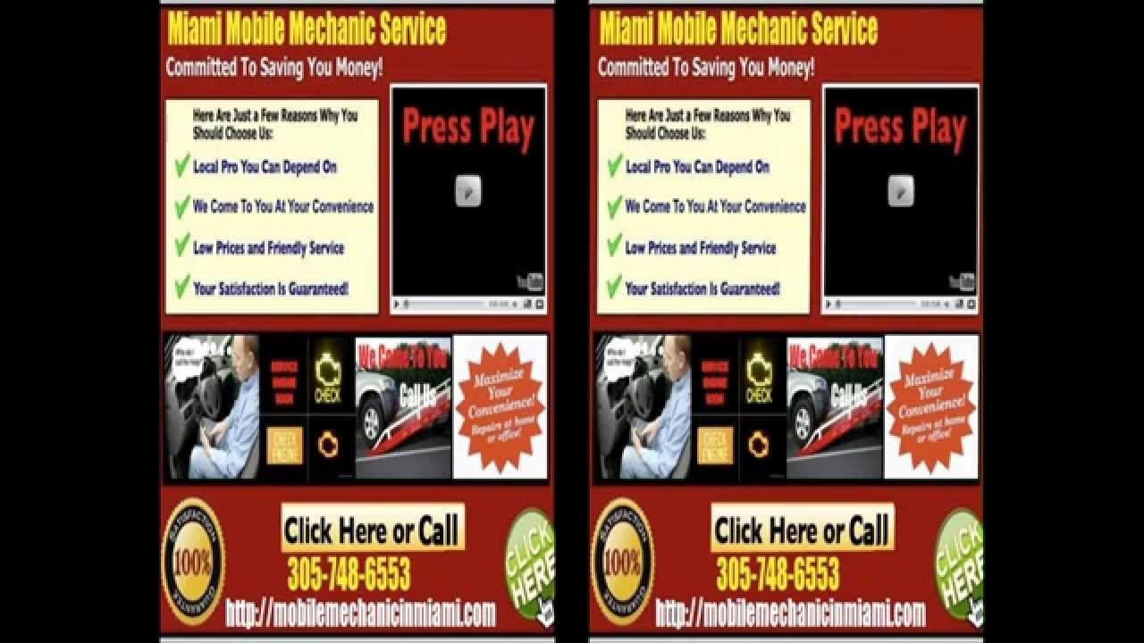 Mobile Mechanic Miami FL auto car repair service shop
