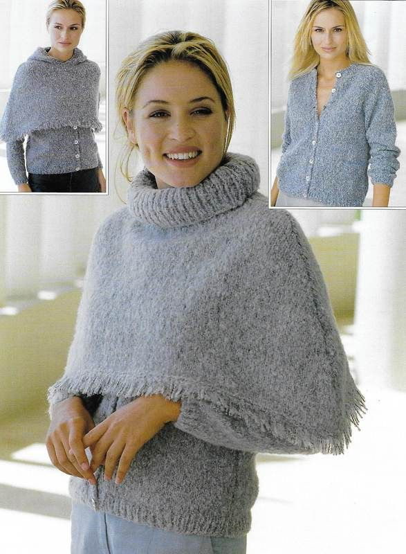 Sirdar 5882 Cardigan And Ponchos Knit Out Of Worsted Weightaran 4