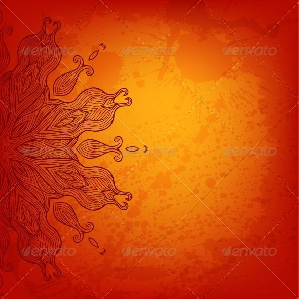 Vector Arabesque Colorful Background #GraphicRiver