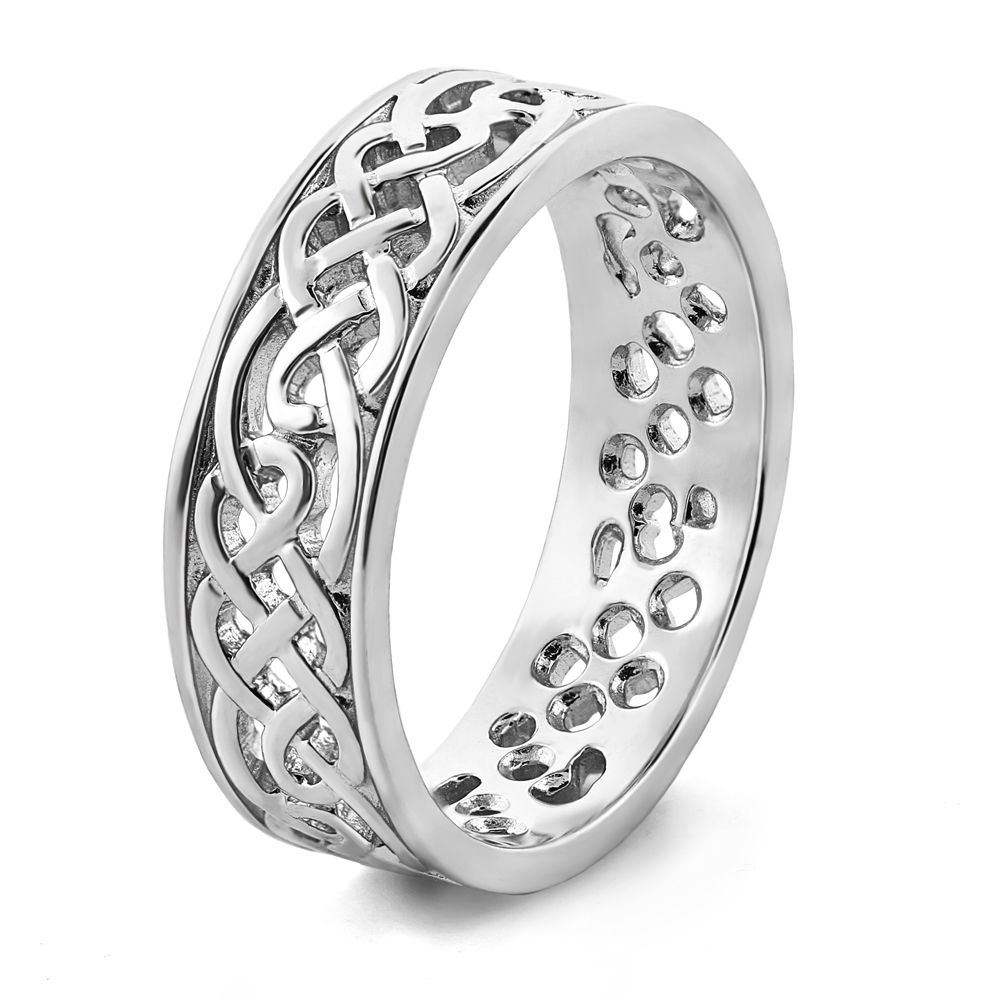 Image result for silver ladies and gents celtic design wedding rings