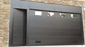 Seccional con puerta peatonal lateral adosada in 2019 - Puertas de garages ...