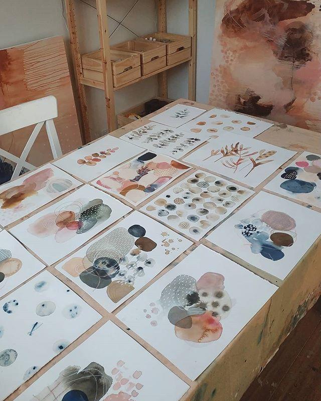 Nieuwe aquareloverzichten – LAURA-HORN-KUNST – Jennifer Thalberg Home Blog