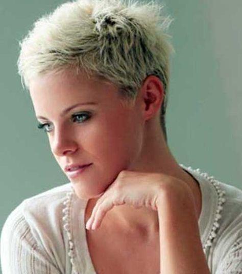 Very Short Platinum Blonde Pixie Cuts Pixie Haircuts Pinterest