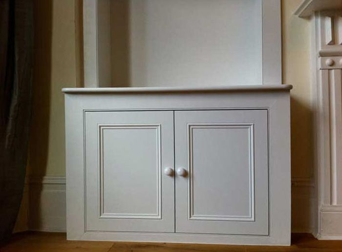 Best Alcove Cupboards Shaker With Beading Living Room 640 x 480