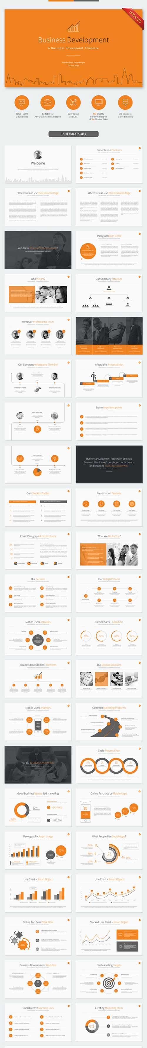 Business development powerpoint template crisp design elements for business development powerpoint template accmission Gallery