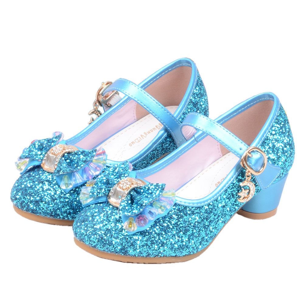 5fef211b0b16 Kid Girl Frozen Shoes Elsa Princess High Heels Cosplay Crystal Jelly Fancy  Shoes  fashion  clothing  shoes  accessories  kidsclothingshoesaccs   girlsshoes ...