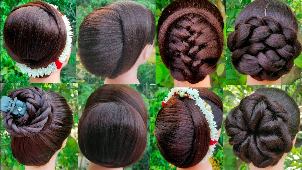 8 Beautiful Bun Hairstyle For Wedding And Party Trending Hairstyle In 2020 Wedding Bun Hairstyles Bun Hairstyles Latest Hairstyles