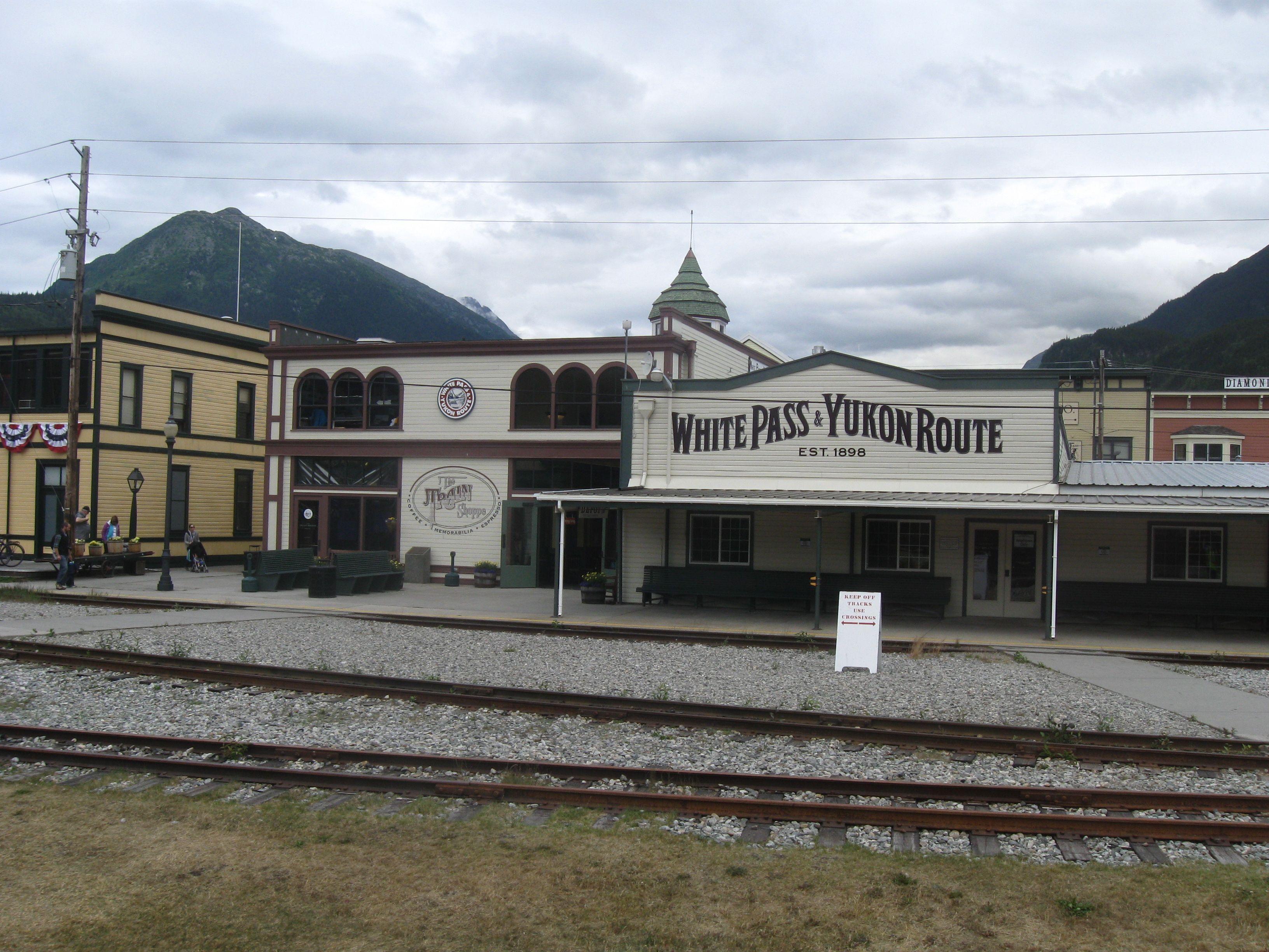 White P Railway Station Skagway Alaska