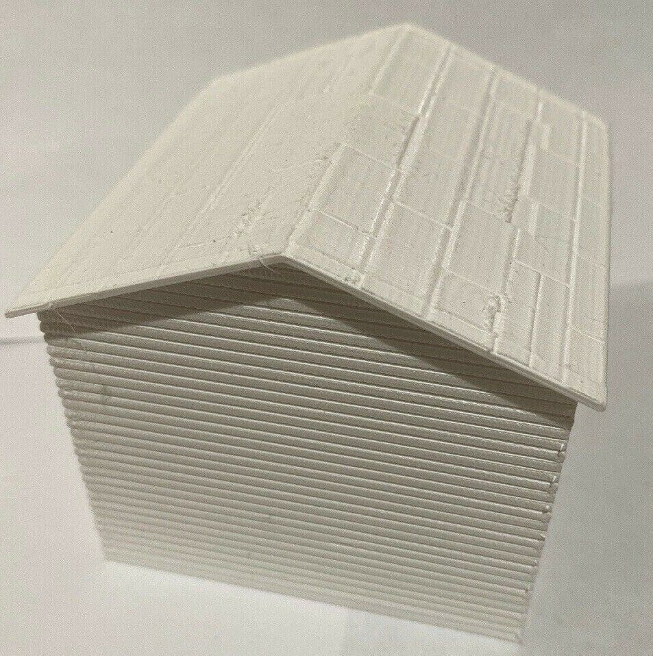 O Scale Clapboard Siding Shed 10 By 10 3 X 3 X 3 White Handmade Clapboard Siding Metal Shed Shed