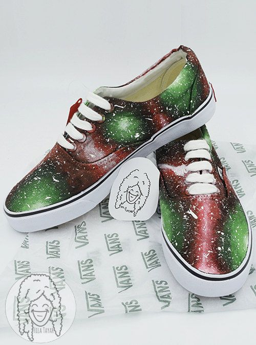 54e71255ec7d Watermelon Galaxy Shoes   Stunning drawings on sneakers shoes made by the  artist Hila Tayar.