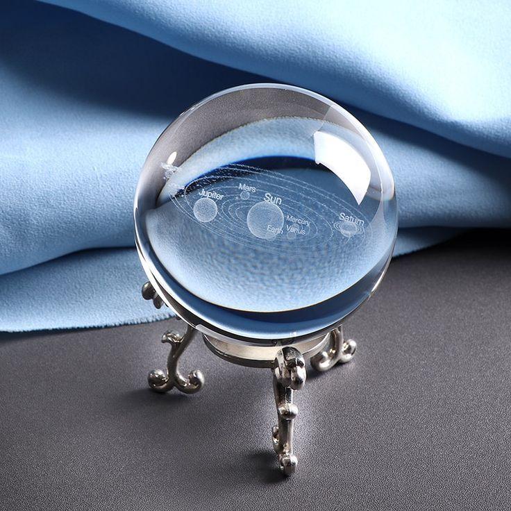 3D Solar System Crystal Ball  Its Mesmerizing 3D Solar System Crystal Ball  Its Mesmerizing
