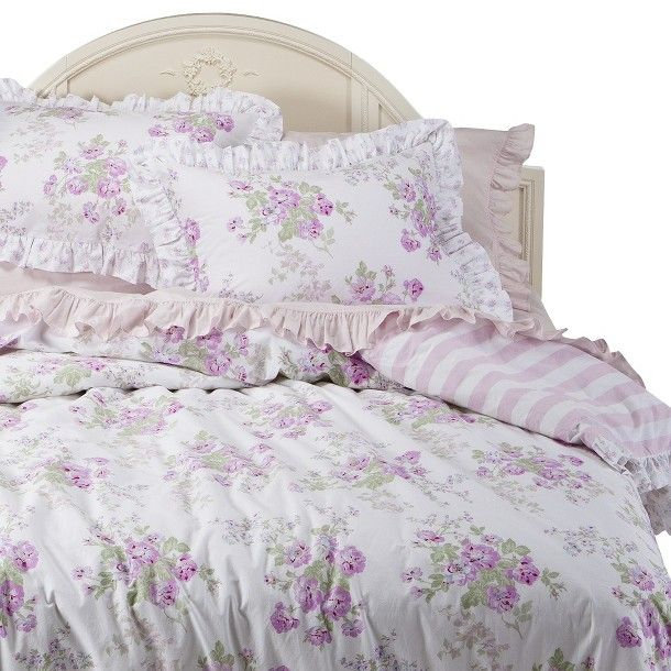 simply shabby chic essez floral duvet set white pink products i might want pinterest. Black Bedroom Furniture Sets. Home Design Ideas