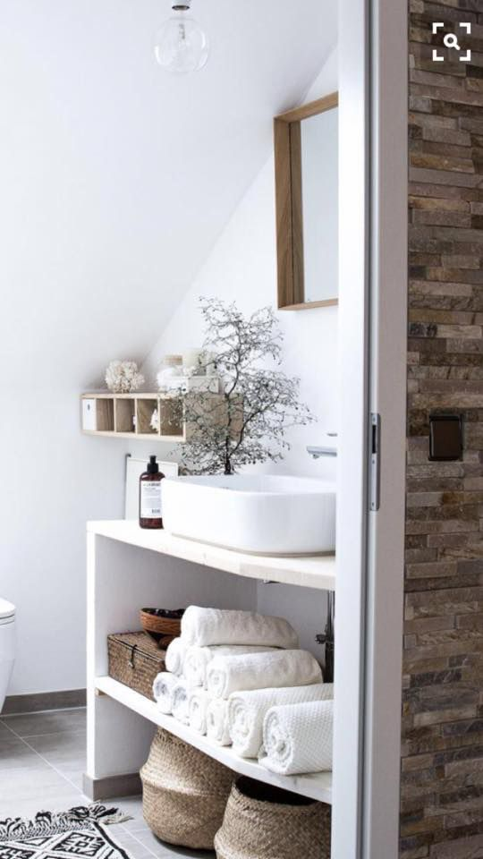 La salle de #bain #tendance #scandinave on adore ! wwwmode-and-deco
