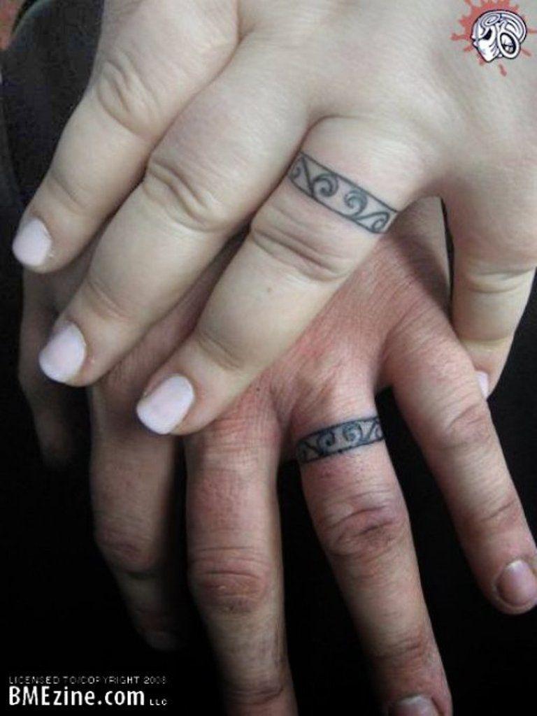 Finger Tattoos Wedding Rings Skulls Flowers Crosses Feathers
