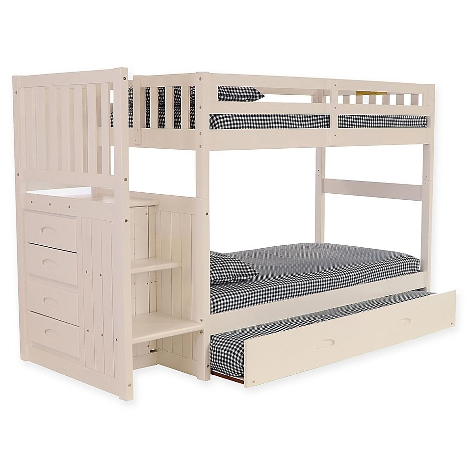 Discovery World Furniture Stair Stepper Twin Twin Bunk Bed With