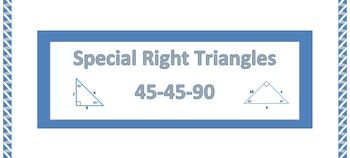 Special Right Triangles 45 45 90 Practice Worksheet Education