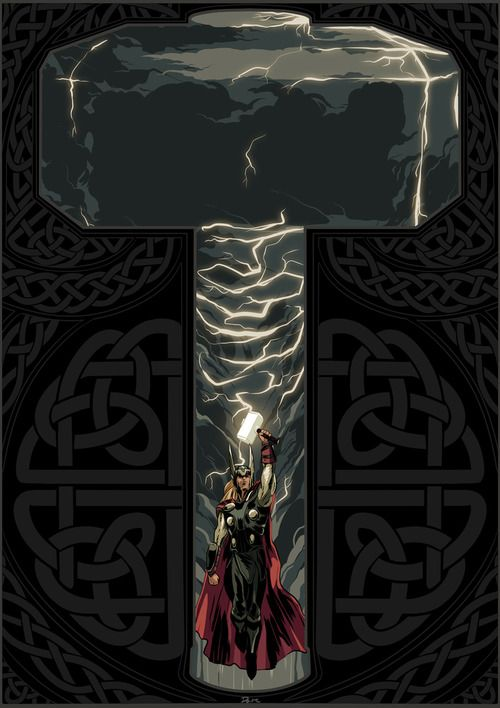 geeksngamers: Thor, God of Thunder - by Dave Collinson