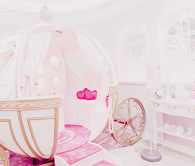 Cinderella Carriage Bed Nursery Baby Girl Room Creative