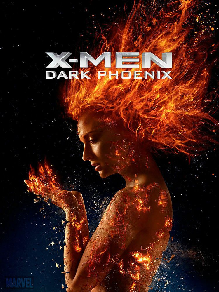 8x12inch Silk Poster X Men Dark Phoenix 2019 Art Poste Movie Dark Phoenix X Men Tv Series Online