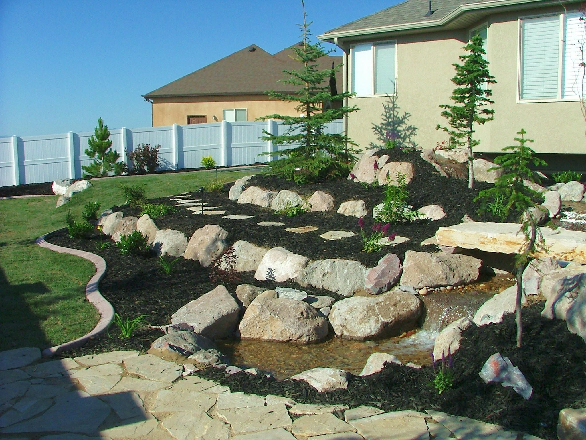 landscaping with rocks | landscape pictures-Chris Jensen Rock wall ...