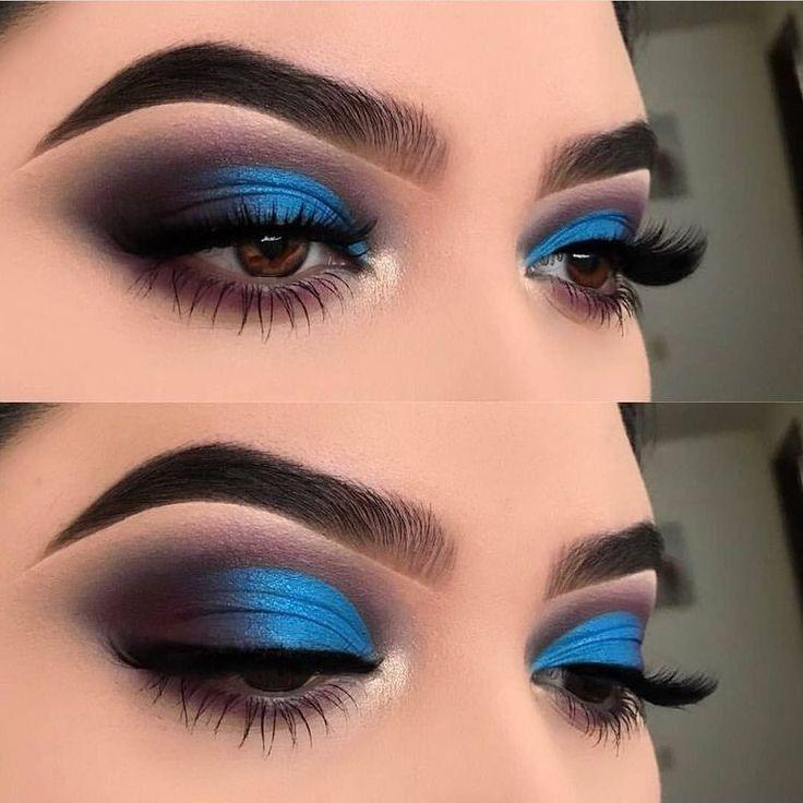 Photo of Makeup. Blue shadow. Blue smokey eye. Gorgeous #eyemakeuptutorial we parece al m…