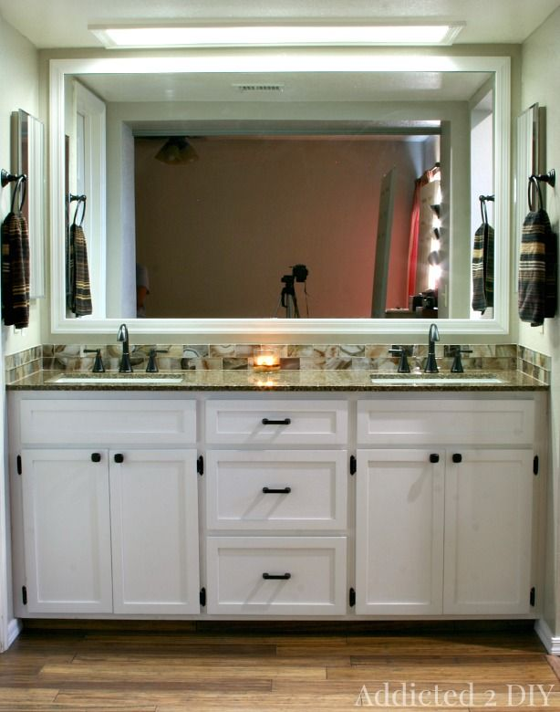 DIY Double Bathroom Vanity