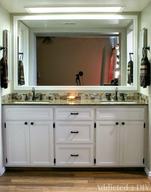 DIY Double Bathroom Vanity | DIY Ideas | Pinterest | Bathroom ... on diy rustic bathroom vanity cabinets, build your own bathroom storage, build your own closet cabinets,