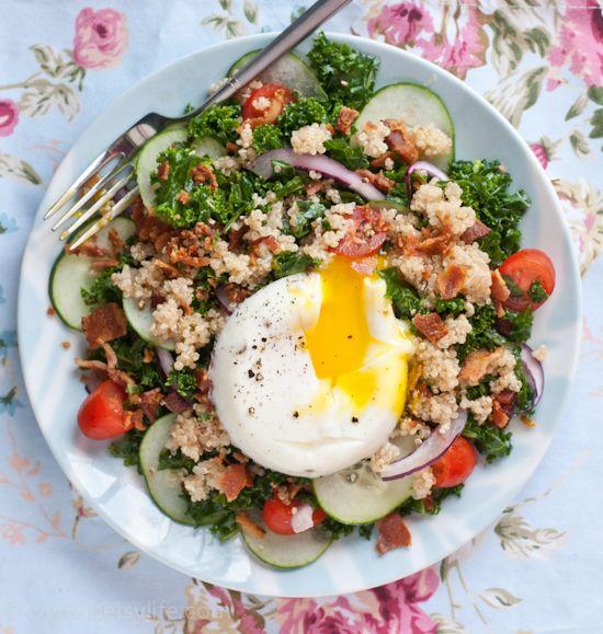 Kale Breakfast Salad Fast Metabolism Diet Recipes Healthy Recipes Vegetarian Recipes