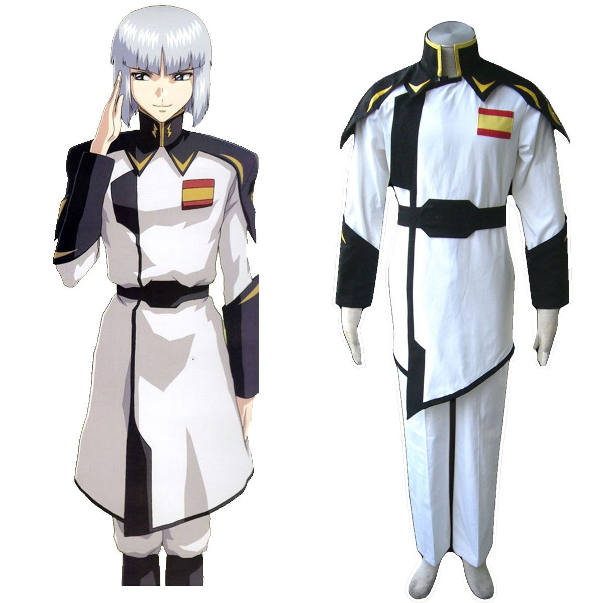 Deluxe Gundam Seed ZAFT Army White Captain Clothing