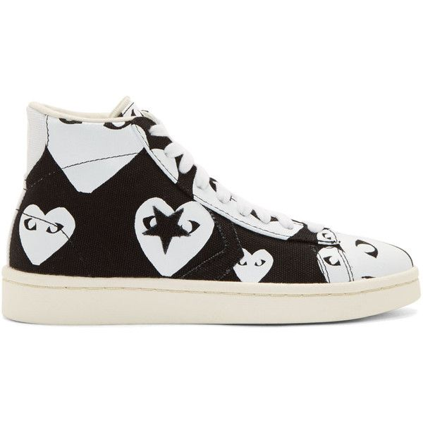 442687162e7e Comme Des Garcons Play Black and White Heart Print Converse Edition...  ( 130) ❤ liked on Polyvore featuring shoes