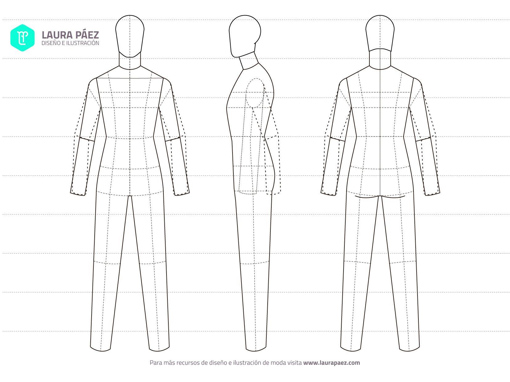 Maniqui Mas Diseno Plano Jpg 1654 1240 Figurines De Moda Dibujos De Moda Laura Paez