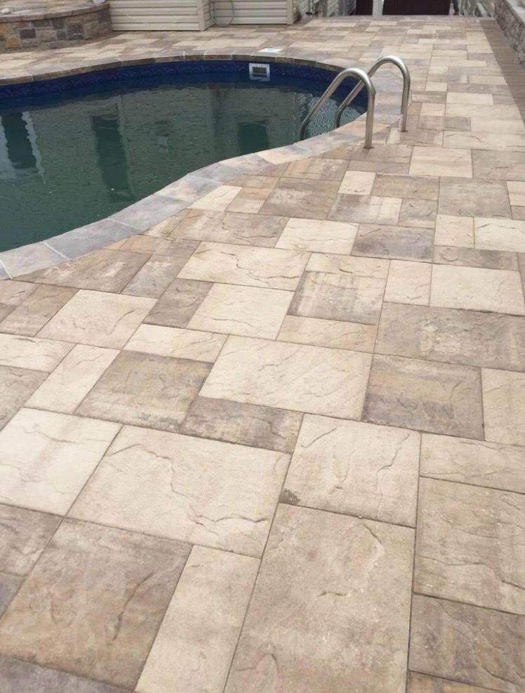 Cambridgepavers Sandstone Saharachestnut Ledgestone Pool