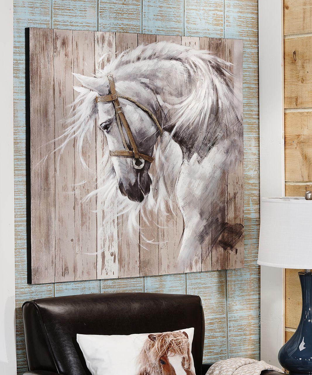 Horse Head Acrylic Canvas Wall Art