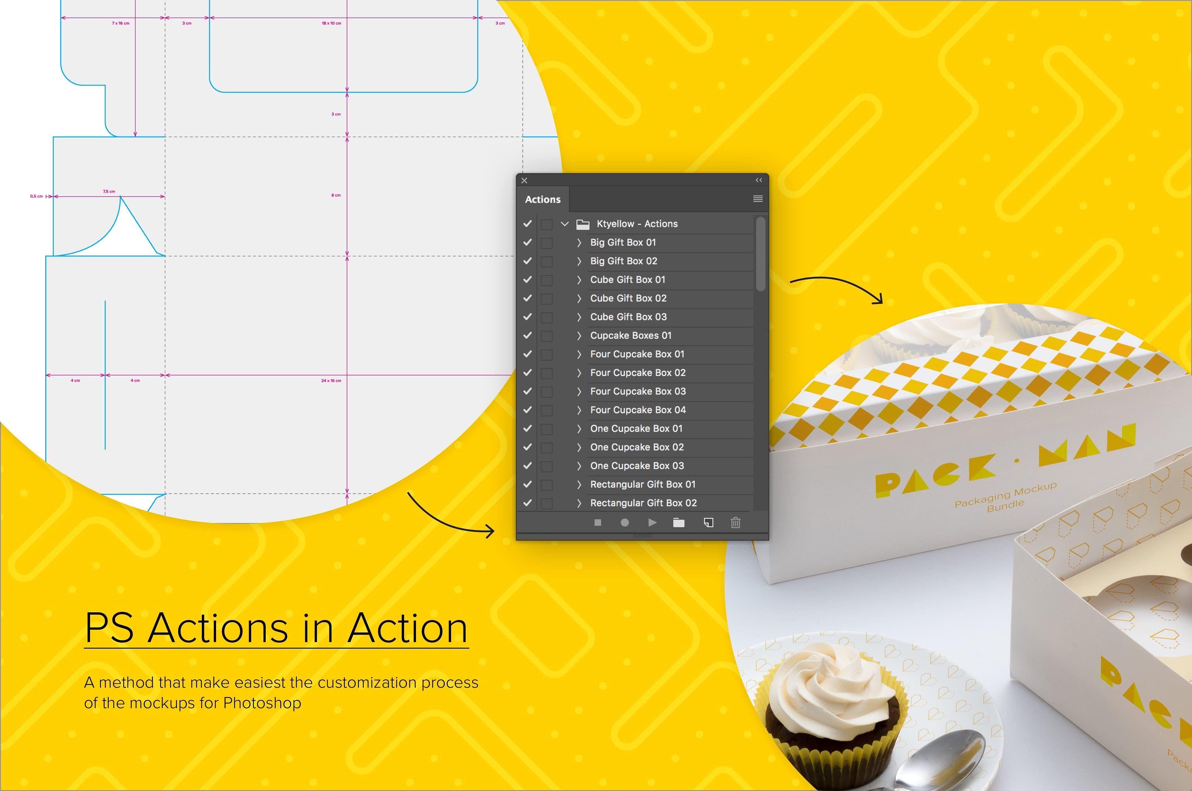 Download Six Cupcake Box Mockup 05 Box Mockup Mockup Branding Mockups