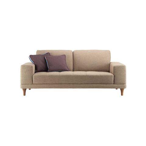 Kasala Lucca Fabric Sofa Ordered In Dark Brown Living Room
