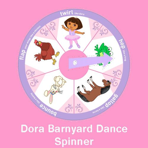 The cutest dancing game that is PERFECT for a Dora Birthday Party