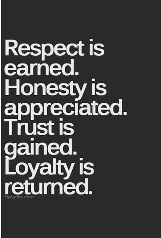 The Principles Of Life And Business Honor Respect Personal