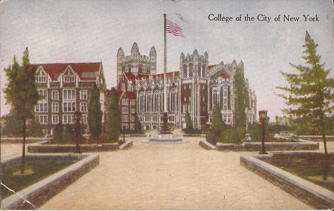 Vintage Postcard New York City College Of The City Of New York Manhattan Architecture New York Tours City College City