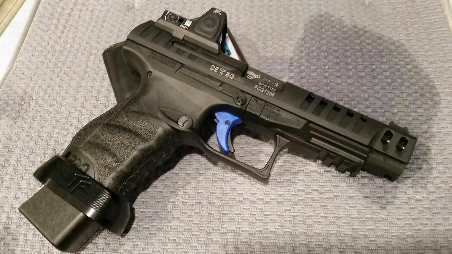 My Walther Q5 Match with Tailor Freelance magwell, mag