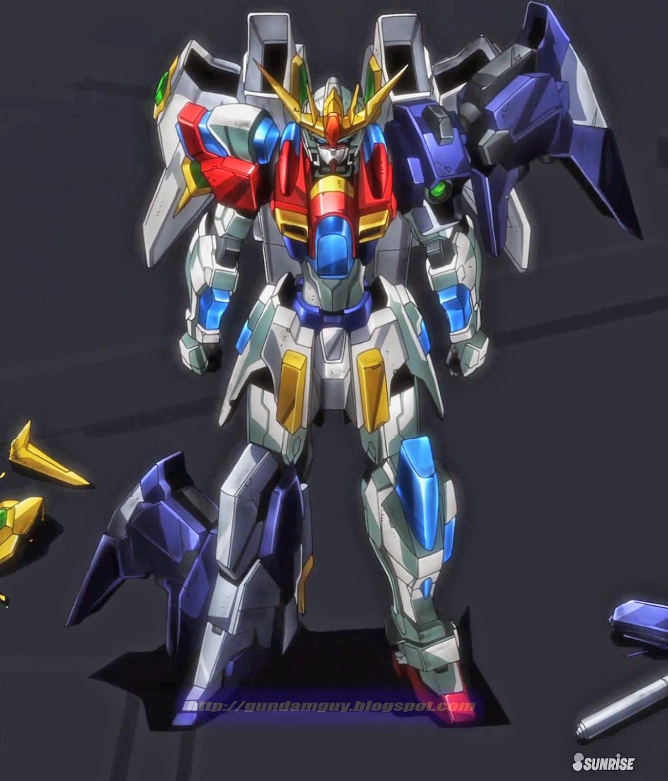 Try Burning Gundam + Lightning Gundam + Winning Gundam