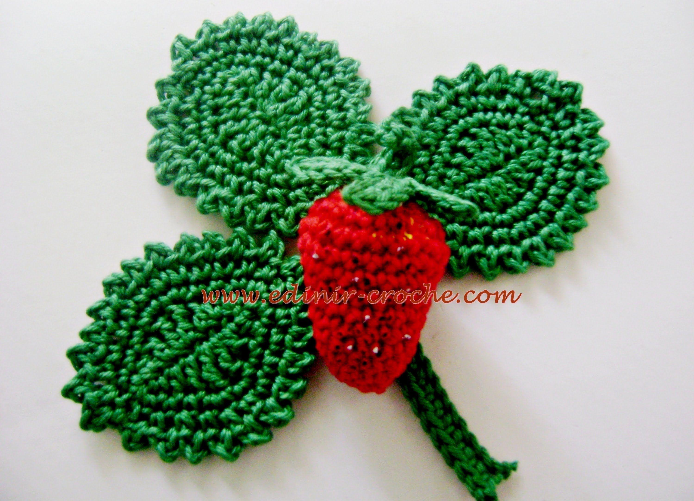 Edinir Croche Ensina Frutas Em Croche Morangos Visite Os Blog