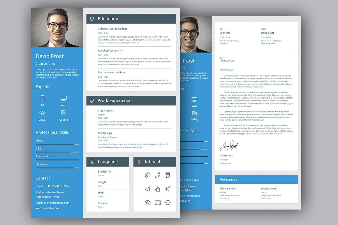 Material Cv Resume Set Resume Work Experience Creative Resume
