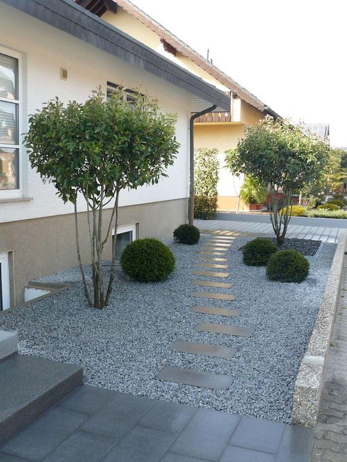 70 Magical Side Yard And Backyard Gravel Garden Design Ideas #sideyards