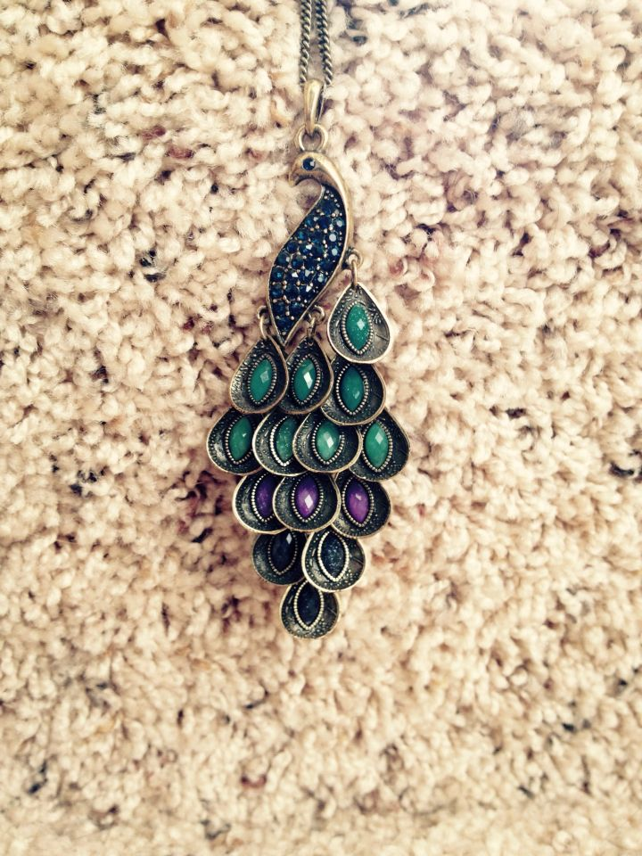 Peacock necklace- pier 1 imports