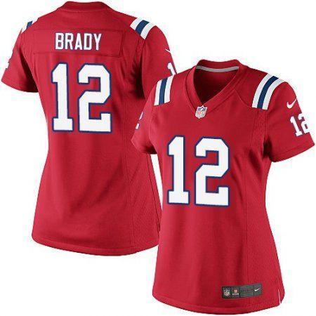Women's Nike New England Patriots #12 Tom Brady Elite Red Alternate NFL Jersey